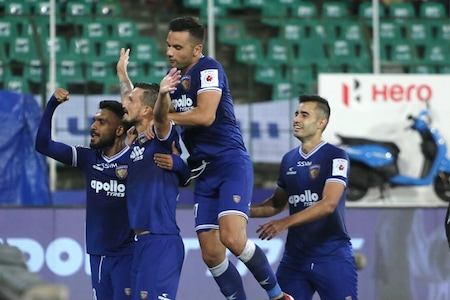 ISL 2019-20: Chennaiyin FC Beat NorthEast FC 2-0 to Improve Play-off Chances