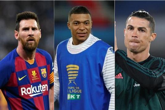 Kylian Mbappe, Cristiano Ronaldo, Lionel Messi (Photo Credit: Reuters)
