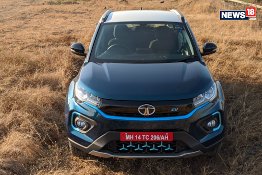 Tata Nexon EV front profile. (Image courtesy: Manav Sinha/News18.com)