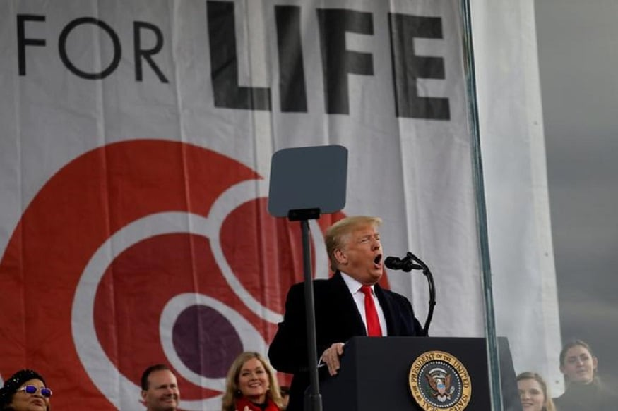 Trump Attends Biggest US Anti-abortion Rally as Democrats Wrap Impeachment Case