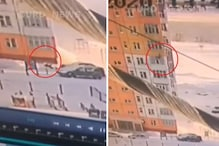 Watch: Woman Falls From 9th Floor, Gets Up and Walks Away Within Seconds of Falling