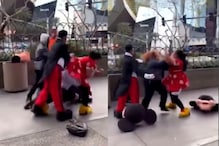 Viral Video Shows Woman Dressed as Minnie Mouse Beating Up Security Personnel