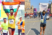 This Mumbai Marathon Runner Unfurled the India Flag with a Special Message On It