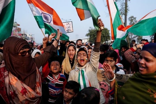 File photo: Demonstrators attend a protest against a new citizenship law in Shaheen Bagh, area of New Delhi, India January 19, 2020. (Reuters)