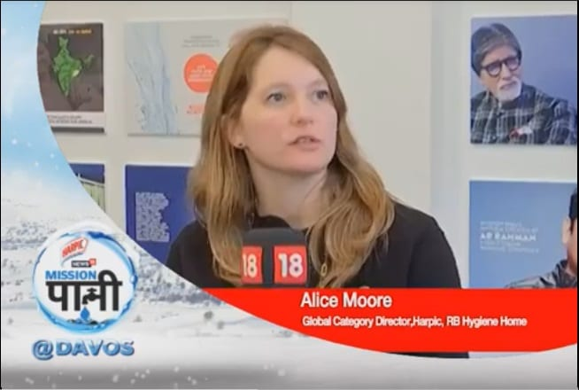 Alice Moore,Global Category Director,Harpic,RB Hygiene Home-MissionPaani @Davos 2020!