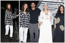 Shibani Dandekar Goes to Dinner with Farhan Akhtar's Daughters and Rest of the Family