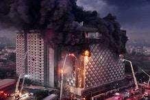 Surat Market Fire: 10-Storey Building Gutted in Blaze