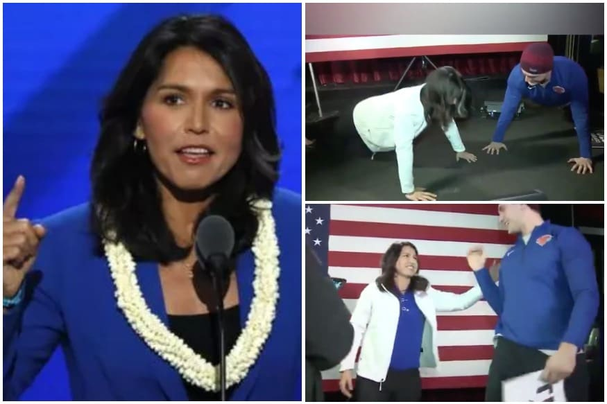 US Prez Candidate Tulsi Gabbard Nails Young Man's Push Up Challenge in Heels, Twitter Awestruck