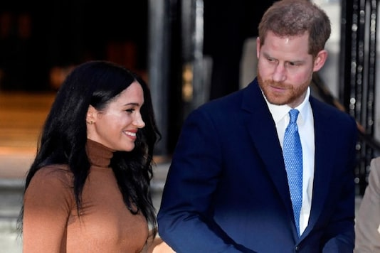 Britain's Prince Harry and his wife Meghan, Duchess of Sussex, leave Canada House in London, Britain. (Image: Reuters)