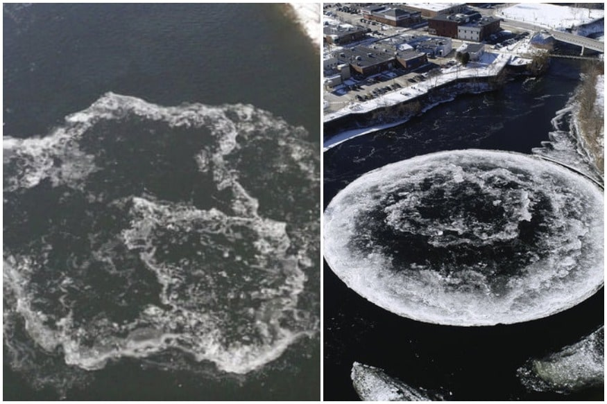 Mysterious Rotating Ice Disc Forming Again in Same US River Where it Was Seen Last Year