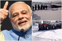 PM Modi Shares Video of Officers Helping Pregnant Woman in Kashmir Snow on Army Day