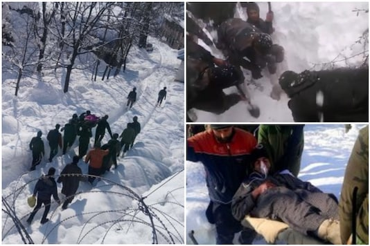 The Indian Army coming to the rescue of Kashmiri local stuck under snow | Image credit: Twitter