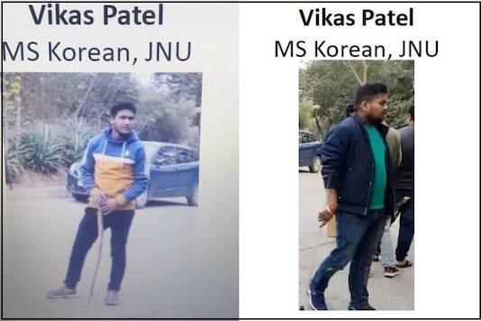 The Delhi Police wrongly identified ABVP's Shiv Poojan Mandal (left) as Vikas Patel (right).