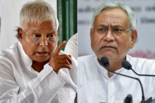 File photos of jailed RJD supremo Lalu Prasad (left) and Bihar CM Nitish Kumar.
