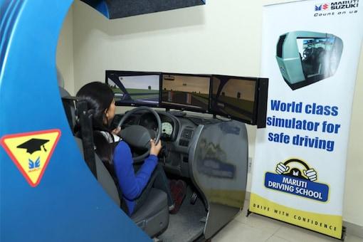 A driving simulator in one of Maruti Suzuki India's driving schools.  (Image: Maruti Suzuki)