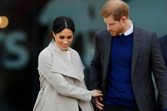 File photo of Prince Harry with Meghan Markle. (Reuters)