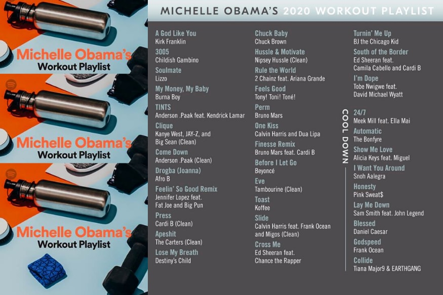 Spotify Users Can Now Work Out to Michelle Obama's Playlist