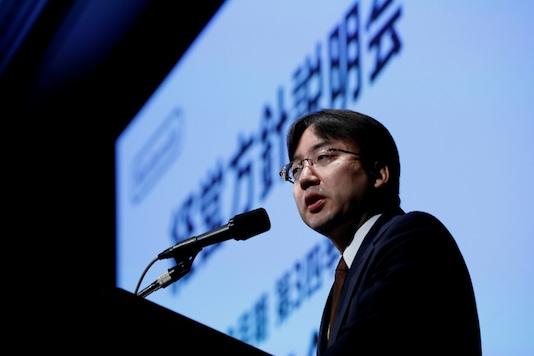 Nintendo President Shuntaro Furukawa speaks at a news conference in Tokyo, Japan January 31, 2020. REUTERS/Kim Kyung-Hoon