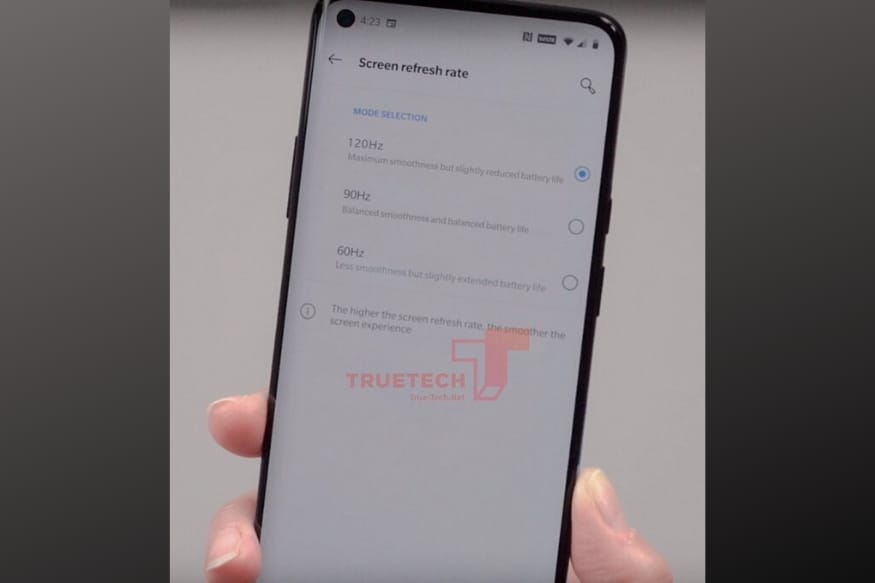 OnePlus 8 Pro With 120Hz Refresh Rate Display Spotted in Leaked Photo