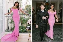 Priyanka Chopra Pairs Bubble Gum Pink Gown with Bvlgari Diamonds for Golden Globes 2020