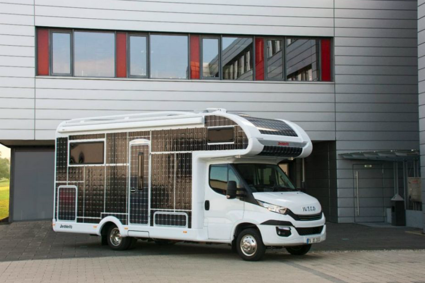 This Customized RV with Solar-Panel Body Does Not Need Fuel, Electricity to Run; Ever