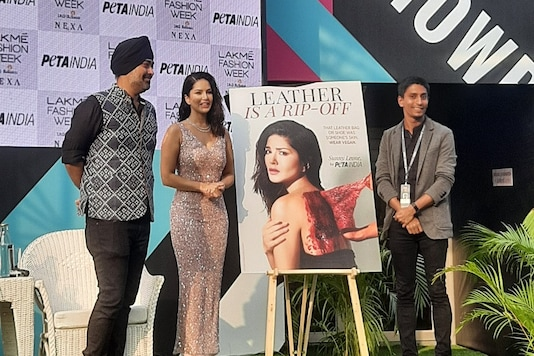 Sunny Leone Releases Powerful New  Campaign with PETA for Vegan Fashion at LFW