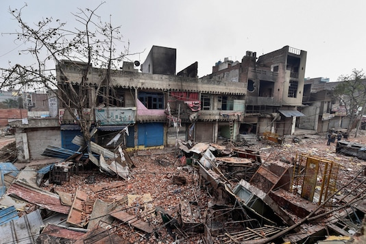 For representation: Brick-bats are seen amid vandalised properties in Bhagirathi Vihar area of the riot-affected north east Delhi. (Image: PTI)