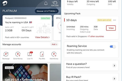 Airtel Now Lets You Pre-book International Roaming Packs, Lest You Forget Later