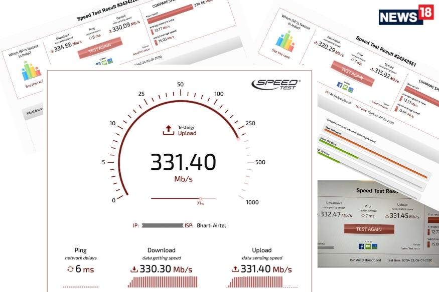 वाई-फाई पर नुकसान के लिए कुछ बफर के साथ भी 300Mbps पर गति लगातार शानदार है, (छवि: विशाल माथुर / न्यूज़ 18)