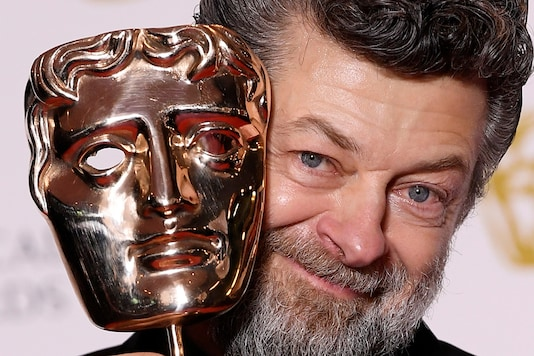 Andy Serkis with his award for Outstanding British Contribution To Film at the British Academy of Film and Television Awards (BAFTA) at the Royal Albert Hall in London. (Image:Reuters)