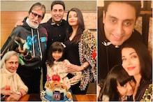 Abhishek Bachchan Celebrates Birthday with Family, Aishwarya Posts Pics with Amitabh, Jaya, Aaradhya