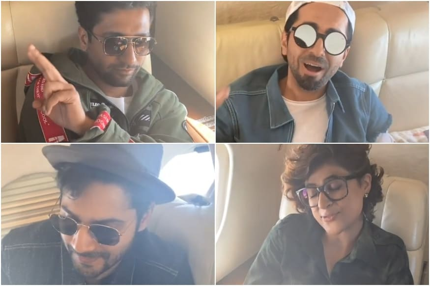 Vicky Kaushal Pleads Karan Johar 'Not to Make Video' as He Flies with Ranveer, Ayushmann, Kartik