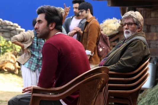 Ranbir Kapoor and Amitabh Bachchan on 'Brahmastra' sets