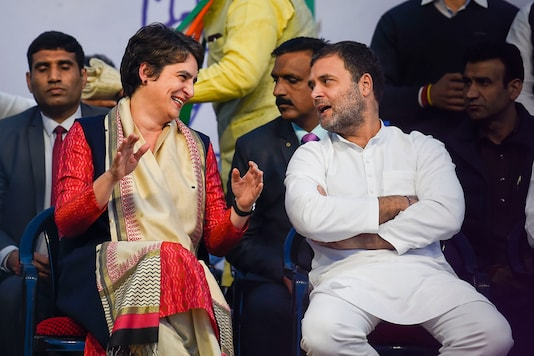 Congress leaders Rahul Gandhi and Priyanka Gandhi Vadra during an election campaign rally  in New Delhi. (Image: PTI)