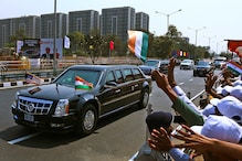 Well-Wishers Line the Streets to Greet Donald Trump in India