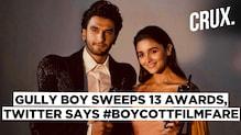 Twitter trends #BoycottFilmfare soon after 'Gully Boy' wins 13 awards