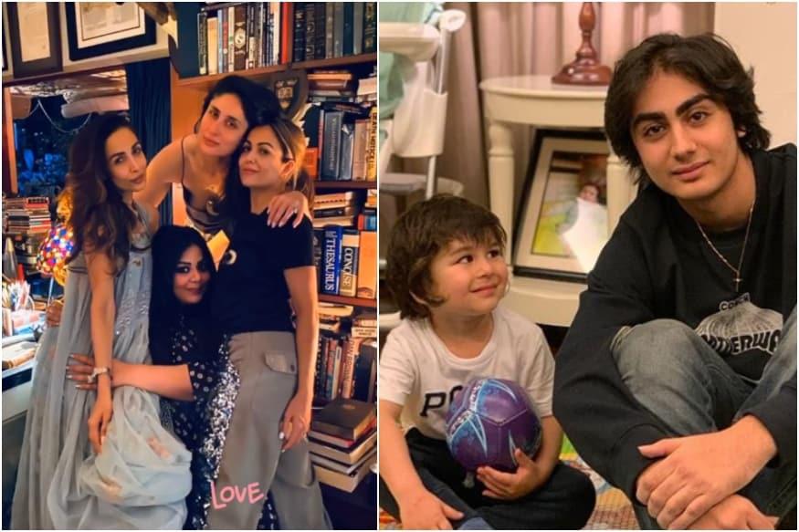 My Baby with Bebo's Baby: Malaika Arora Shares Pic of Khan Boys Arhaan and Taimur from Famjam with Kareena