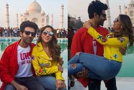 Love Aaj Kal Stars Sara Ali Khan, Kartik Aaryan Visit Taj Mahal