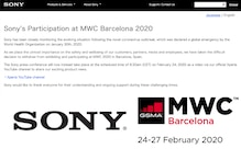 MWC 2020: Coronavirus Worry is Why Sony Decides to Give Barcelona a Skip This Year