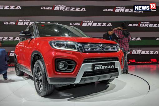 The new Maruti Suzuki Vitara Brezza comes with a BS-VI compliant petrol engine.  (Image: Manav Sinha/News18.com)
