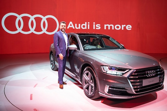 Mr. Balbir Singh Dhillon, Head of Audi India at the Launch of Audi A8 L.