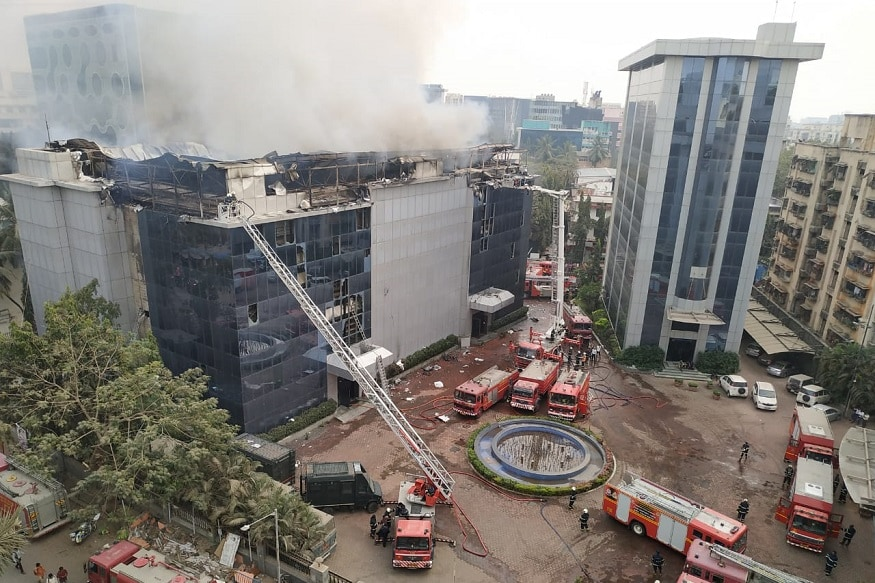 Massive Fire in 3-Storey Commercial Building in Mumbai, No Casualties Reported