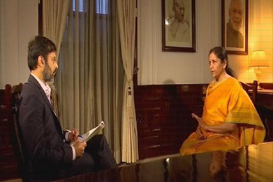 Finance Minister Nirmala Sitharaman speaks to Network 18 Editor-in-chief Rahul Joshi on Saturday.