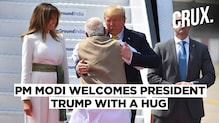 Donald Trump Arrives In Ahmedabad, PM Modi Says 'Namaste Trump' With a Hug