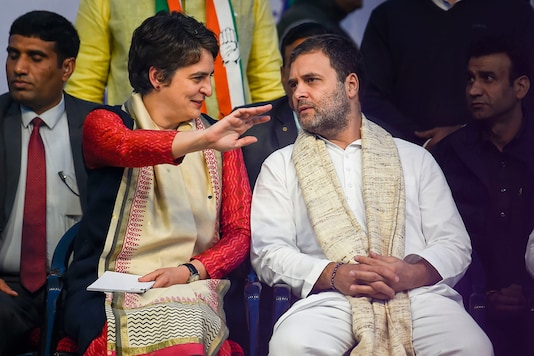 Congress leader Rahul Gandhi and party General Secretary Priyanka Gandhi Vadra during an election campaign rally at Sangam Vihar in New Delhi. (Image: PTI)
