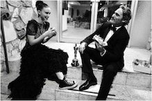 Joaquin Phoenix, Rooney Mara Enjoy Oscars Date Night Sitting at Restaurant Steps, See Pic