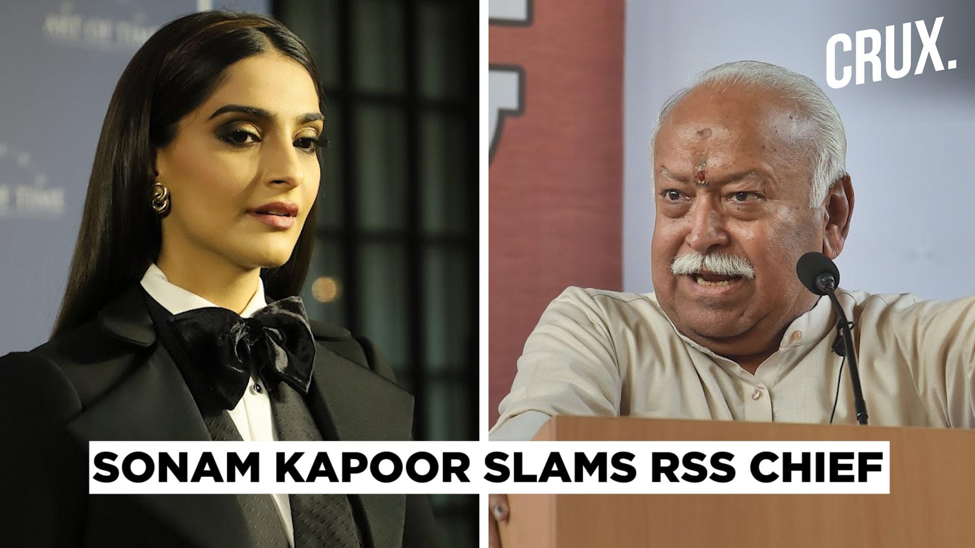 Sonam Kapoor Calls RSS Chief Mohan Bhagwat's Comment on Divorce 'Regressive'