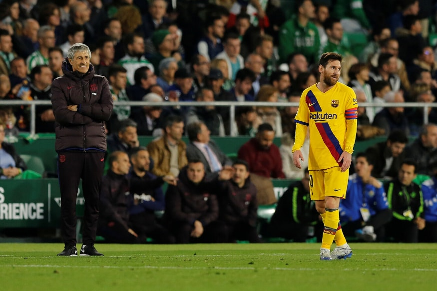 Quique Setien Reacts to Lionel Messi's 'Barcelona Cannot Win UEFA Champions League' Remark