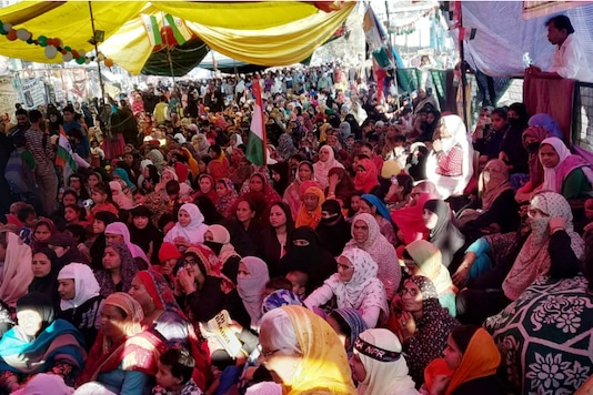 File photo of the iconic Shaheen Bagh protest site where women have been staging a sit-in for three months against the Citizenship Amendment Act.