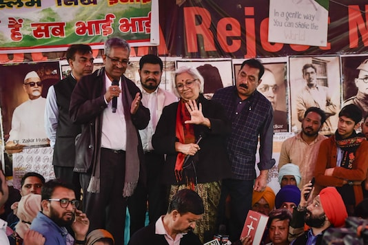 File photo: The mediators at Shaheen Bagh in Delhi on Wednesday. (PTI)